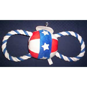 Patriotic Tug Plush Ball Patriotic Tug Plush Ball, dog, dog toy, toy,